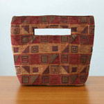Cotton handbag, 'Cherry Cubism' (small)