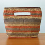 Cotton handbag, 'Glowing Energy' (small)