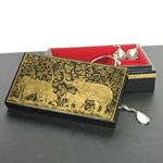 Lacquered jewelry box, 'Day of Leisure'
