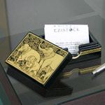 Lacquered name card box, 'Day of Leisure'