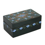 Lacquered box, 'Floral Kaleidoscope'