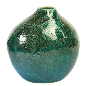 Ceramic vase, 'River Flower'