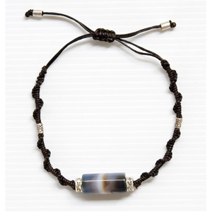 Agate and silver bracelet, 'Space Odyssey'
