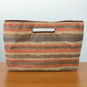 Cotton handbag, 'Glowing Energy' (long)