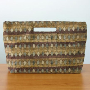 Cotton handbag, 'Honey Cells' (long)