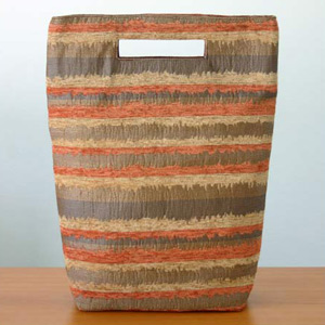 Cotton handbag, 'Glowing Energy' (tall)