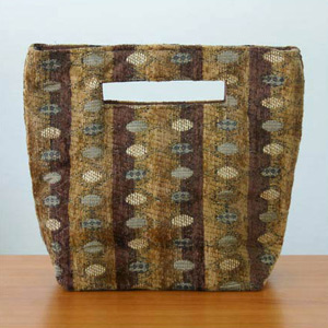 Cotton handbag, 'Honey Cells' (small)