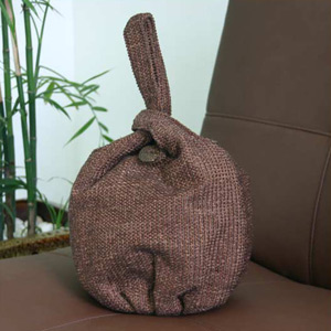 Cotton handbag, 'Earth' (loop)