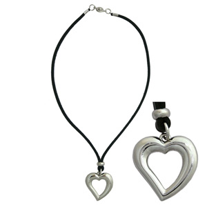 Leather necklace, 'Soothing Heart'
