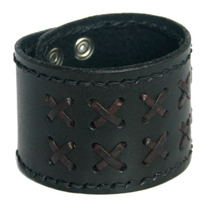 Leather bracelet, 'Centurion'