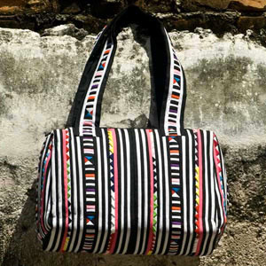 Cotton shoulder bag, 'Jelly Bean'