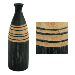 Mango wood vase, 'Abstraction'