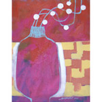 Acrylic on canvas, 'Handmade Vase'