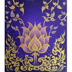 Acrylic on canvas, 'Golden Lotus Stream II'