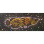 Acrylic on canvas, 'Golden Dragon Fish'