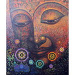 Acrylic on canvas, 'Understand the Dharma'