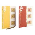 Saa paper journals, 'Flower Festival' (set of 2)