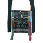 Akha cotton shoulder bag, 'Pamee Magic'
