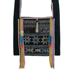 Akha cotton shoulder bag, 'Pamee Reverie'
