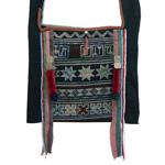 Akha cotton shoulder bag, 'Pamee Celebration'