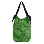 Cotton shoulder bag, 'Life Pool' (medium)