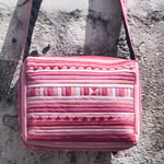 Product name : Cotton shoulder bag, 'Lisu in Pink'