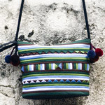 Cotton shoulder bag, 'Bamboo Forest'