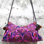 Cotton shoulder bag, 'Thai Love'