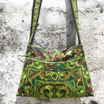 Cotton shoulder bag, 'Hmong Charm'