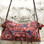 Cotton shoulder bag, 'Ethnic Artistry'
