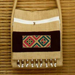 Cotton shoulder bag, 'Thai Teen'