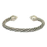 Sterling silver bracelet, 'Lanna Braid'
