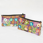 Cotton purse, 'Doi Inthanon Flowers' (Set of 2)