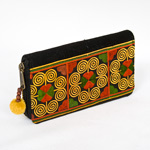 Cotton Hmong purse, 'Circles of Life'