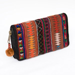 Cotton Akha purse, 'Hill Tribe Soul'